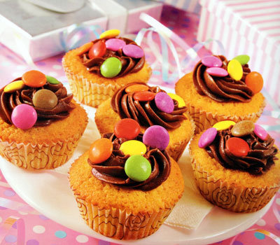These fun cupcakes will brighten up any kid's party.