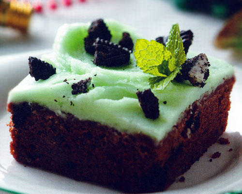 Mint Cookies and Cream Brownies Recipe